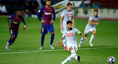 Barça-Napoli 3-1, gli azzurri come questa estate a folle